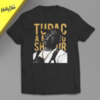 Kaos Legendaris Tupac Amaru Shakur Art Photo T-Shirt American Rapper