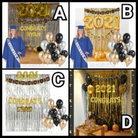 Paket Balon Dekorasi Wisuda Graduation Set Balon Angka Jum 80 cm Bogor