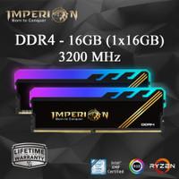 RAM IMPERION RGB DDR4 32GB (2X16GB) 3200 MHz RAM PC RGB GAMING RESMI - - 16GB (1X16GB)