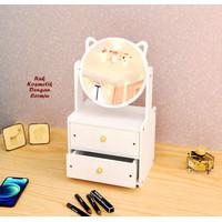 Rak Kosmetik DENGAN CERMIN bahan kayu ada lacinya cosmetic box unik