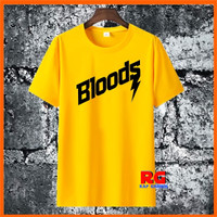 Baju Kaos Wanita Pria Distro - Baju Kaos Bloods Non Original - Kuning - S