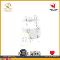 SBJ - Anting emas putih asli 750 emas original Amp 122