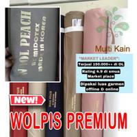 bahan kain wolpis wolfis woolpis woolfis wolvis premium gamis fashion