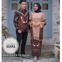 (Free Selendang)Baju Batik Couple Sarimbit gamis Kebaya brukat modern