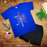 Baju Setelan Anak Laki Laki Kaos Setelan Katun Combad 1-12 tahun (4) - 1-2 tahun