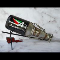knalpot austin racing slip on ninja 250 fi dan Z250 carbon import