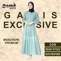 baju gamis terbaru gamis remaja kekinian modern wanita dress sarah - Wardah