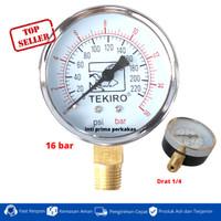 tekiro pressure gauge pengukur tekanan angin air compressor 16 BAR