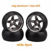 Velg Aluminum Ban Drift Wltoys K969 K989 Velg Alloy Wide MiniZ awd DRZ