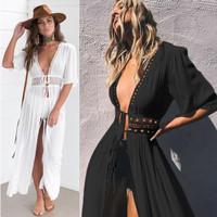outer baju wanita casual swimwear fashion casua beachwear Aubrey v0067