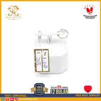 SBJ 1- Anting emas putih asli 750 emas original Amp 108