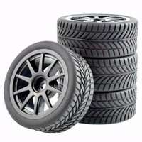 R02 RC On Road tires, ban RC velg 1:10 Black