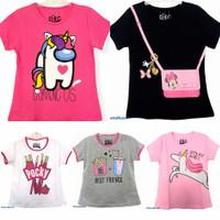 Kaos baju anak perempuan size 1 2 3 4 5 6 7 8 9 10 tahun #7802