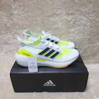 Sepatu Sneakers Adidas Ultraboost 21 White Core Black Solar Yellow
