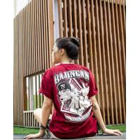Kaos Distro Premium Size M-XL / T-Shirt Bajingan Warna Maroon