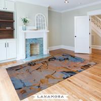 Karpet Handtuft Premium Wool Mewah Modern D057 BlueBrown 200x300 cm