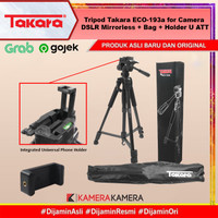 Tripod Takara ECO-193a for Camera DSLR Mirrorless + Bag + Holder U ATT