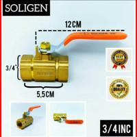 Stop Kran Kuningan 3/4 inch Soligen - Ball Valve