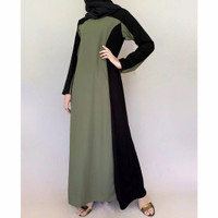 Baju Busana Setelan Wanita Abaya Gamis Turkey Drees Hitam Syari