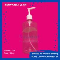 Botol 500ml Natural Bening Pump Lotion N 24 Bahan PET Tebal