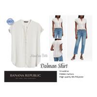 BANANA REPUBLIC BREP Dolman shirt Kemeja Blus kancing depan Silk