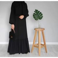 Abaya Turkey Hitam Arab Gamis Gaun Pesta Baju Wanita Dress Muslim