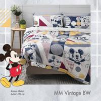 Set Bedcover Sprei Katun motif Mickey mouse Ukuran 180x200 160x200