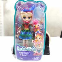 sale mainan: Enchantimals Peeki Parrot & Sheeny Figure Set Original