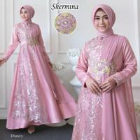 baju busana muslim wanita gamis syari pesta jumbo xxl