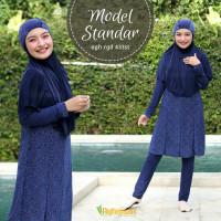 Baju Renang Wanita Muslimah Muslim Dewasa Standar Aghnisan RGD ST - Biru, M