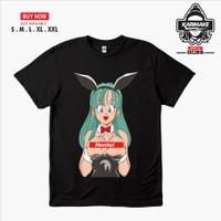 Kaos Baju Anime DRAGON BALL BULMA HENTA Kaos Anime - Karimake - Hitam, S