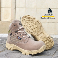 Sepatu pria keren 2021 safety boots pendek premium quality Rockwell