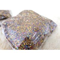 confetti isian balon transparan glitter gold