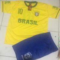Baju bola anak timnas dunia - Brasil, Size 22/XL