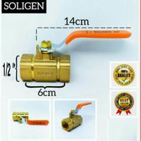 Stop kran Kuningan 1/2 inch Soligen - Ball Valve