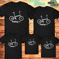 Kaos Couple Sepeda Folding Bike Dan Minion Bike / Baju Keluarga Anak