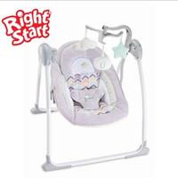 Bouncer Deluxe Portable Swing Right Start / Kursi Ayun Otomatis Baby