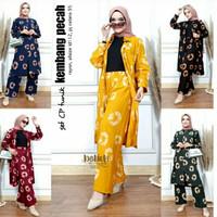 ONE SET CP Tunik Tiedye Kombi Setcel Busui Modern Handmade Baju Pergi