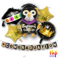 FUN KIDS PARTY - Paket Dekorasi Simple Graduation / Balon Graduation