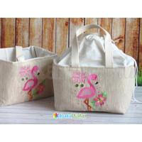 Cherish Bag Kanvas Bordir Kombinasi Belacu Serut Souvenir Custom