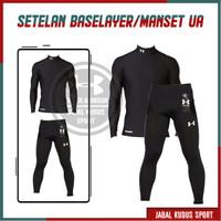 Setelan Baju Olahraga Pria Wanita Manset Baselayer Futsal Renang Volly