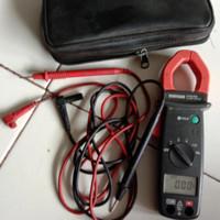 clamp meter tang ampere sanwa DCM400. multitester multimeter avo meter
