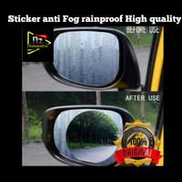 Sticker Anti Fog Embun Hujan / Sticker Rainproof Oval high Quality
