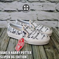 PREMIUM Sepatu Kasual Vans Slip On x Harry Potter Marauders Tanpa Tali