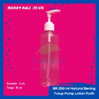 Botol 250ml Natural Bening Pump Lotion N 24 Bahan PET
