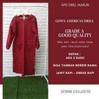 APD Gown Drill Harga Grosir - Surgical Apron Bedah Jubah