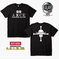 Kaos Baju Portgas D Ace Asce Shirohige Punggung Logo Anime One Piece