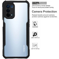 Vision II Armor Case Oppo A74 5G - Acrylic Clear Casing PC TPU Soft