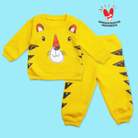 baju bayi laki-laki 6 12 Bulan setelan Baju Anak motif hewan lucu