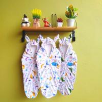 1 Set (3pcs) Bedong Topi Bayi Instan dengan Resleting Soft Katun